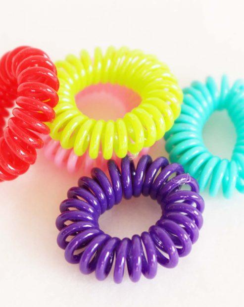 Telefoon draad elastiek gekleurd