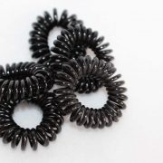 Telefoon draad elastiek zwart